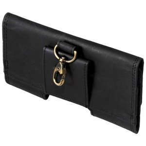 MATADOR Gürteltasche Echt Leder Hülle für Apple iPhone X XS Schwarz