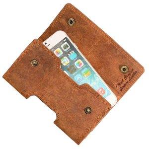 MATADOR Leder Apple iPhone X XS Gürteltasche Hülle Case Braun