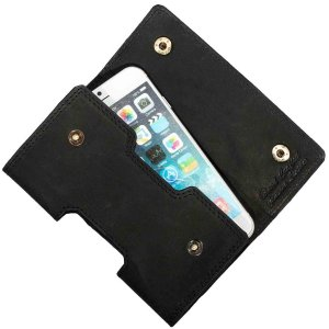MATADOR iPhone X XS Leder Gürteltasche Quertasche Schwarz