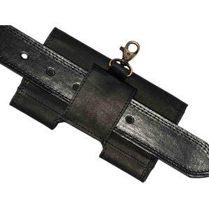 MATADOR Apple iPhone 12 Mini SE 2020 6 7 8 Echt Ledertasche Schwarz