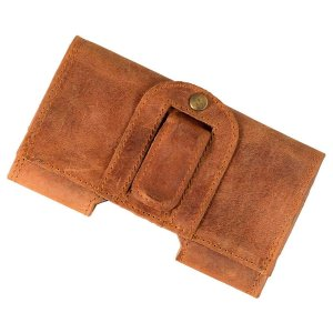 MATADOR iPhone 12 Mini SE 2020 6 6s 7 8 Echt Leder Gürteltasche Braun