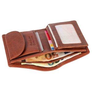 MATADOR Leder RFID Herren Geldbörse Geldbeutel Antik Vintage Braun