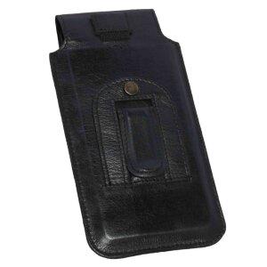MATADOR Huawei P20 Pro Leder Handytasche Clip Schwarz