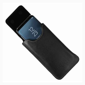 MATADOR Huawei P20 Pro Leder Tasche Schlaufe Schwarz