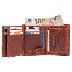 MATADOR Herren Geldbörse Portemonnaie Leder RFID Schutz Braun