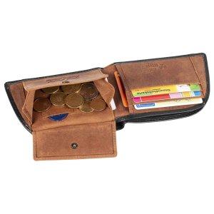 MATADOR Herren Leder Geldbörse HUELVA Portemonnaie RFID Schwarz