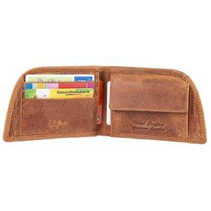 MATADOR Herren Leder Geldbörse HUELVA Portemonnaie RFID Braun