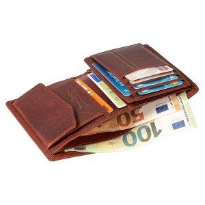 MATADOR Leder Herren Geldbörse Geldbeutel Brieftasche RFID Braun
