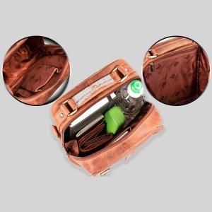 MATADOR Leder Tablettasche Umhängetasche Schultertasche Vintage Braun