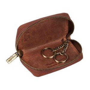 MATADOR Leder Schlüssel-Tasche-Etui Auto Motorrad Vintage Braun