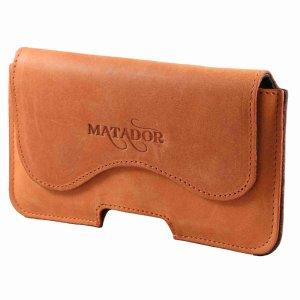 MATADOR iPhone 7 Plus 8 Plus Echt Leder Gürteltasche Konjak Braun