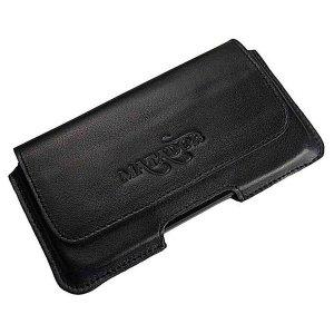 MATADOR iPhone 13 / 13 Pro 12 / 12 Pro 11 XR Leder Handytasche Schwarz