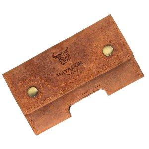 MATADOR iPhone 13 / 13 Pro 12 / 12 Pro 11 XR Leder Tasche Braun