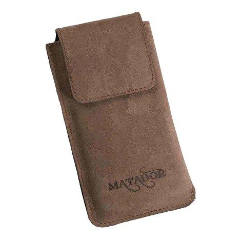 MATADOR Apple iPhone 13 / 13 Pro 12 / 12 Pro Leder Gürteltasche Braun