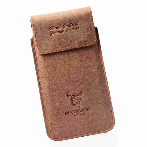MATADOR Apple iPhone 12 / 12 Pro / 11 / XR Leder Gürteltasche Braun