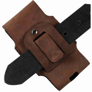 MATADOR iPhone 13 / 13 Pro 12 / 12 Pro 11 XR Leder Schutztasche Clip