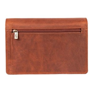 MATADOR Leder Handtasche Damen Ledertasche Schultertasche Braun