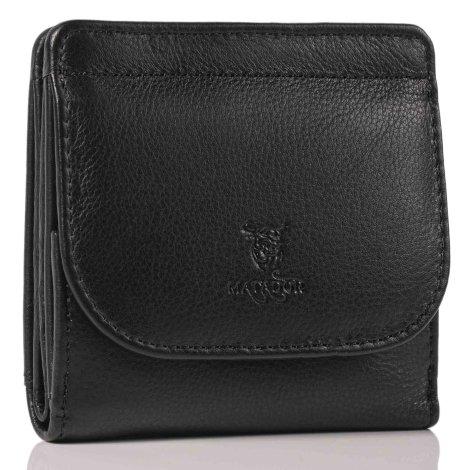 MATADOR Herren Geldbörse klein Leder RFID Brieftasche Schwarz