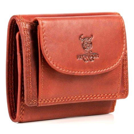 MATADOR Kleine Geldbörse Damen Herren RFID & NFC Schutz Vintage Braun