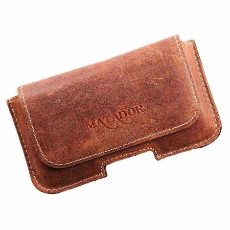 MATADOR Apple iPhone 5 5s 5c SE Leder Gürteltasche Konjak Braun