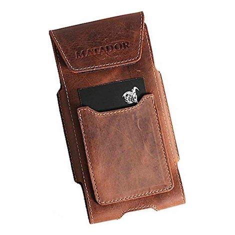 MATADOR Gürteltasche kompatibel mit iPhone 5 5s 5c SE Antik Braun