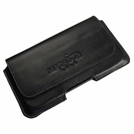 MATADOR Leder Gürteltasche kompatibel mit iPhone 5 5c 5s SE Schwarz
