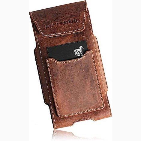 MATADOR iPhone 5 5s 5c SE Leder Gürteltasche Handytasche Braun