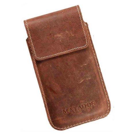 MATADOR Apple iPhone 5 5s 5c SE Leder Handytasche Konjak Braun