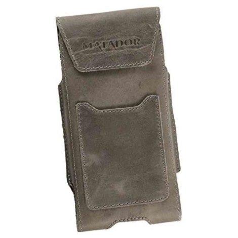 MATADOR Apple iPhone 5 5s 5c SE Leder Gürteltasche Vintage Grau