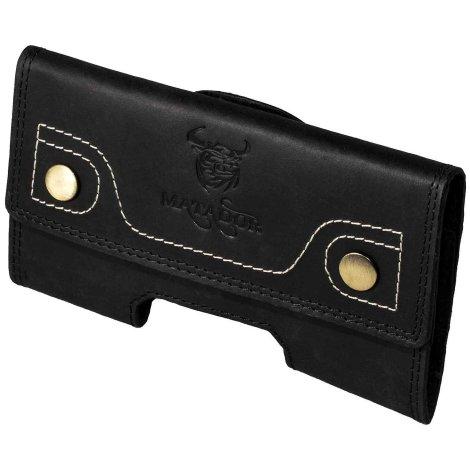 MATADOR Galaxy S20 FE Note 8 / 9 Leder Case Tasche Quer Schwarz
