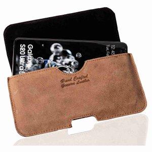 MATADOR® Samsung Note 10 Plus S20 Ultra Leder Gürteltasche Braun
