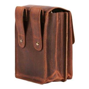 MATADOR Leder Hüfttasche MALAGA XXL für Smartphone bis 7.5 Zoll Braun