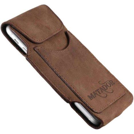 MATADOR Galaxy A50 A51 A52 A30 Leder Schutztasche Schlaufe Braun
