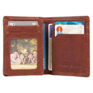 MATADOR Leder Geldbörse Herren MILANO mit RFID TüV Braun