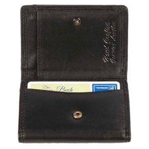 MATADOR Kleine Leder Mini Geldbörse Herren TüV RFID Schwarz