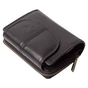 MATADOR Leder Damen Geldbörse Portemonnaie 14 Fächer RFID TüV Schwarz