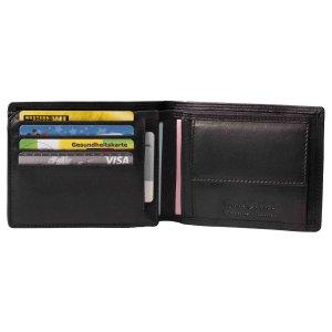 MATADOR® Herren Leder Portemonnaie Geldbeutel RFID NFC TüV Schwarz