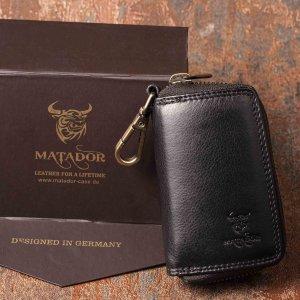 MATADOR Leder Schlüsseltasche Schlüsseletui Auto Motorrad Schwarz