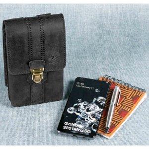 MATADOR Leder Hüfttasche MALAGA XL Smartphone 7.5 Zoll Schwarz