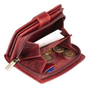 MATADOR Echt Leder Damen Geldbörse Portemonnaie RFID TüV Rot