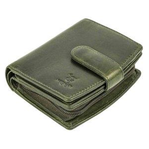 MATADOR Damen Geldbörse Leder Portemonnaie RFID TüV Grün