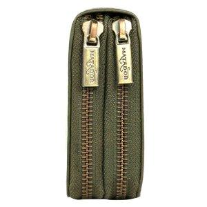 MATADOR Damen Leder Geldbörse Langbörse Geldbeutel Lang RFID Grün