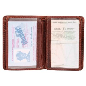 MATADOR® Leder Kreditkartenetui RFID TüV Kreditkartenhülle A7 Blumen
